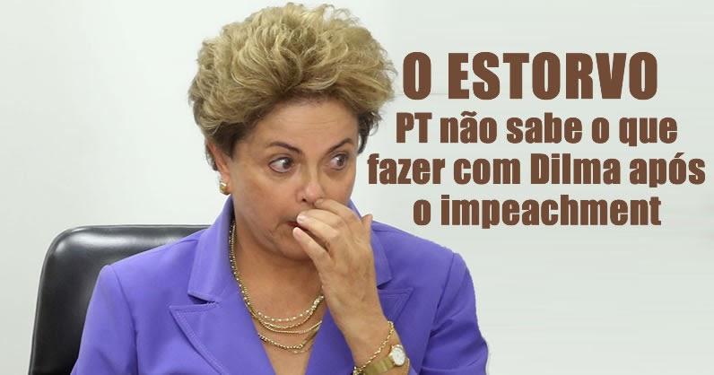 Resultado de imagem para Um ano após impeachment, PT não sabe o que fazer com Dilma