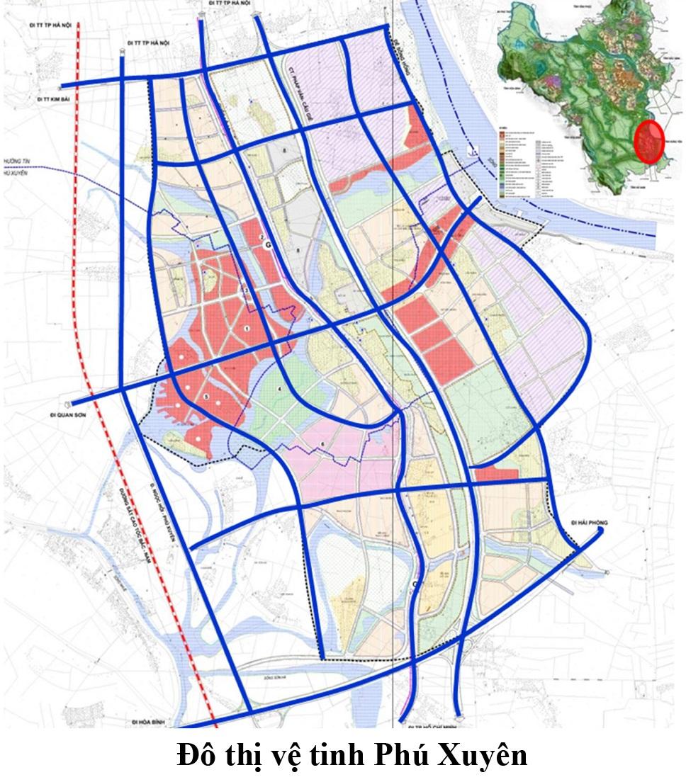 Bản đồ quy hoạch Giao Thông Phú Xuyên- Hà Nội