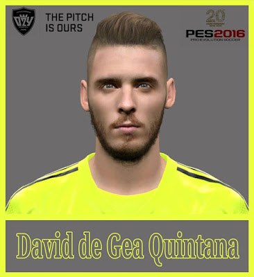 PES 2016 David de Gea Face by Ozy_96 PES MOD