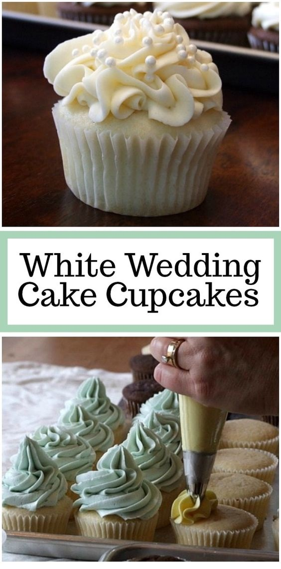 White Wedding Cake Cupcakes