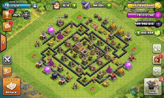 Susunan Formasi Base War TH 8 Update Terbaru 13