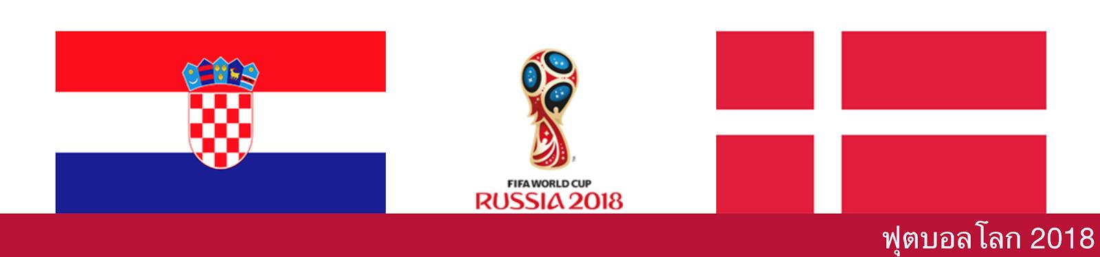ดูบอลสด วิเคราะห์บอล ฟุตบอลโลก 2018 โครเอเชีย vs เดนมาร์ก