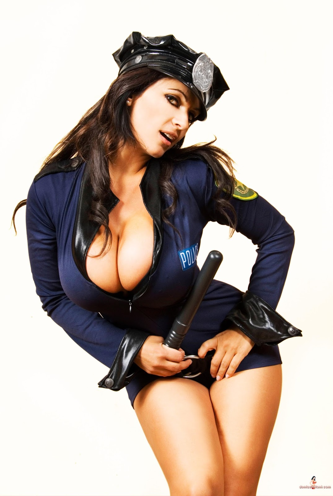 Halloween Sexy Police Women Costume Cosplay Cop Officer Dress Uniform Outfit S