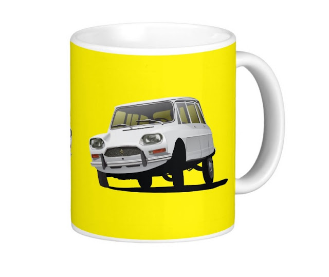 Citroen Ami illustration coffee mug at Zazzle