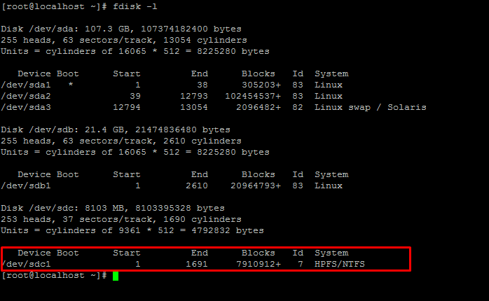 How to Mount USB Drive/ NTFS File system in Linux CentOS