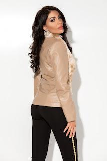 Jacheta din piele ecologica si blanita-2