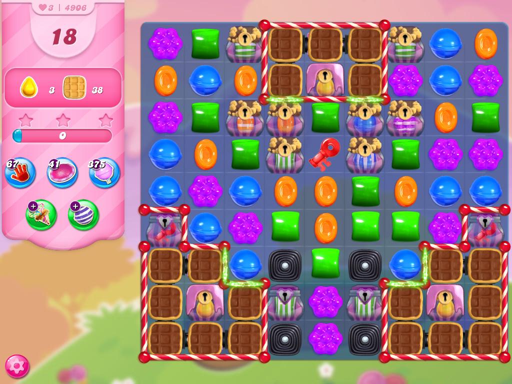 Candy Crush Saga level 4906