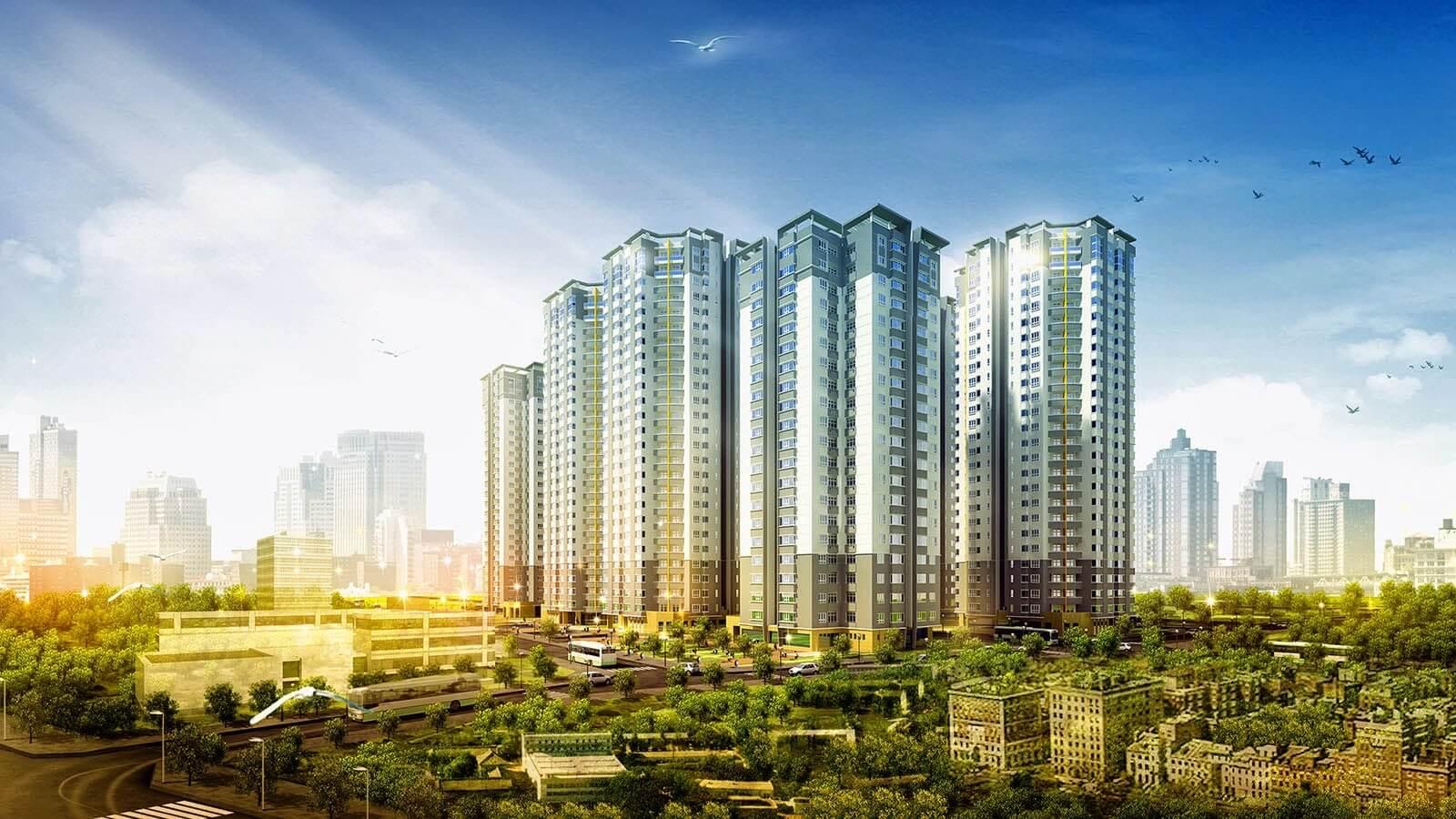 Minh họa phối cảnh của dự án căn hộ chung cư Royal Land.