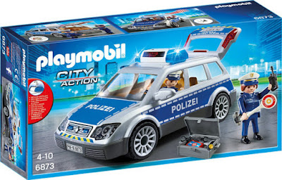 TOYS : JUGUETES - PLAYMOBIL City Action  6873 Coche patrulla de la policía  Producto Oficial 2016| Edad: 4-10 años  Comprar en Amazon España