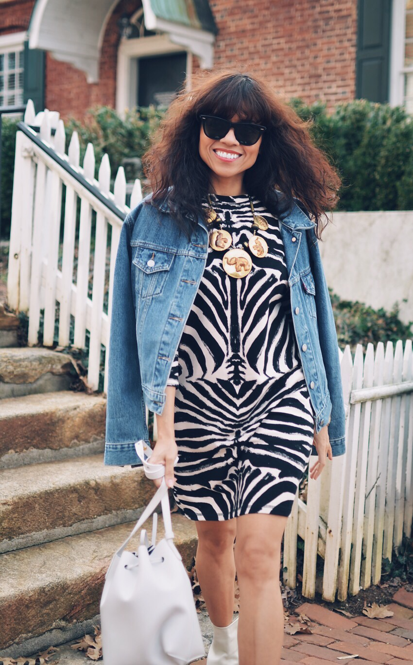 Zebra print street style