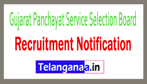 Gujarat Panchayat Service Selection Board GPSSB Recruitment Notification