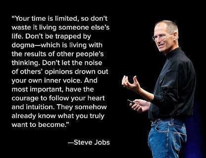 Steve Jobs Believe in Yourself: http://dazzlingventures.blogspot.com
