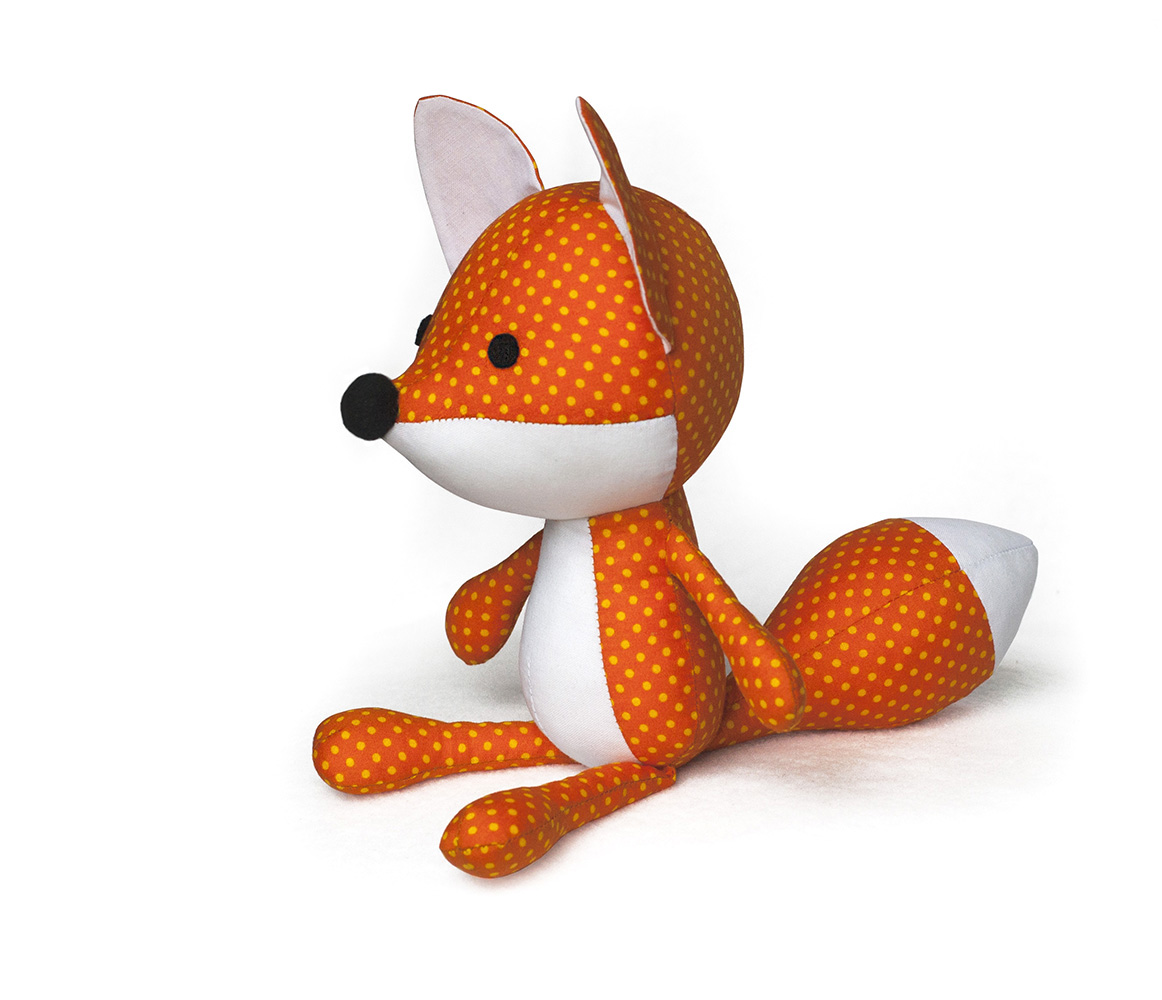 Toy patterns by diy fluffies fox softie sewing pattern for Sewing templates for stuffed animals