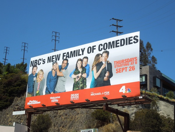 NBC family of comedies billboard 2013