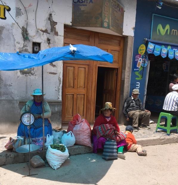 market in Chivay, Peru