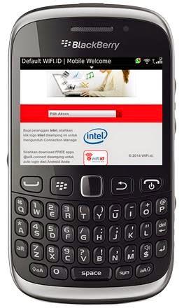 panduan mengonekan wifi di blackberry