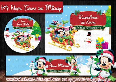 Kit Festa Natal Turma do Mickey