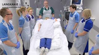 Langkah 8 reposisi pronasi pada pasien gangguan pernafasan ARDS