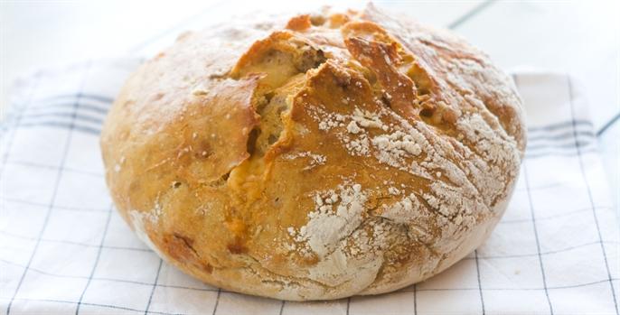 Receita de Pão recheado com mussarela e rúcula