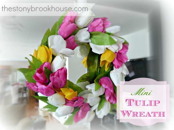 DIY Mini Tulip Wreath