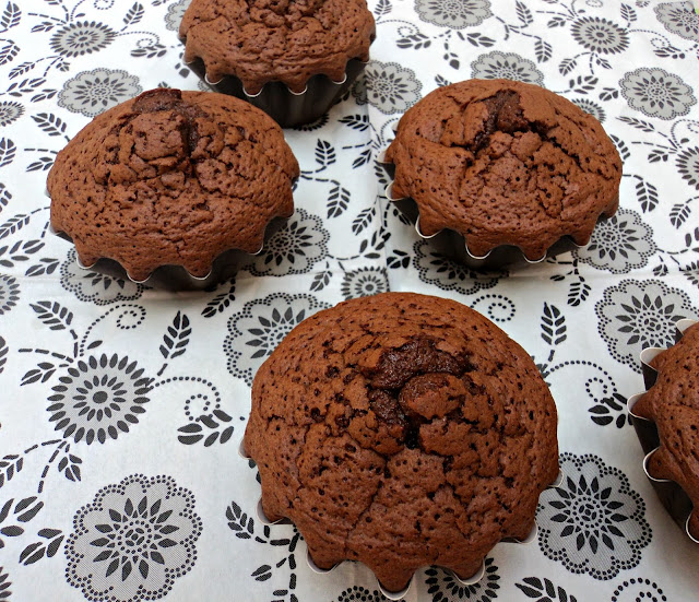 receta casera muffins, magdalenas, chocolate