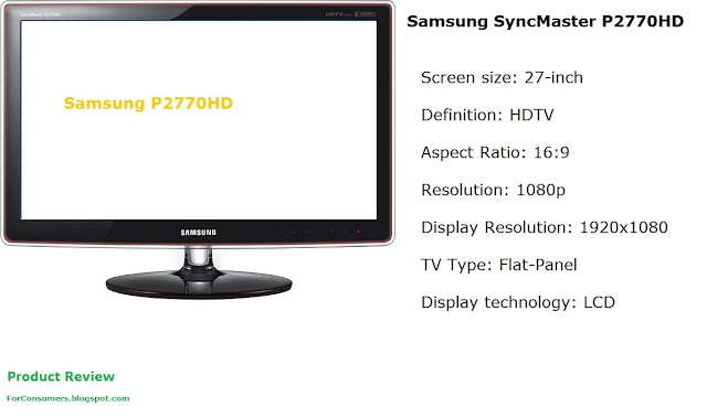 Samsung SyncMaster P2770HD LCD TV and monitor
