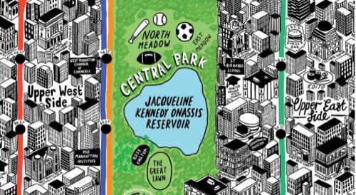 Mapa de New York dibujado a mano