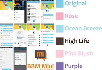BBM Mod MIUI 7 2.11.016 Apk + Clone + Cover UI Animation