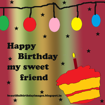 happy birthday my sweet friend image