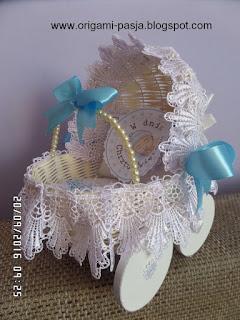 chrzest, prezent, dla chłopczyka, Szymon, rękodzieło, rattan, wybielany, biały, niebieski, handmade,