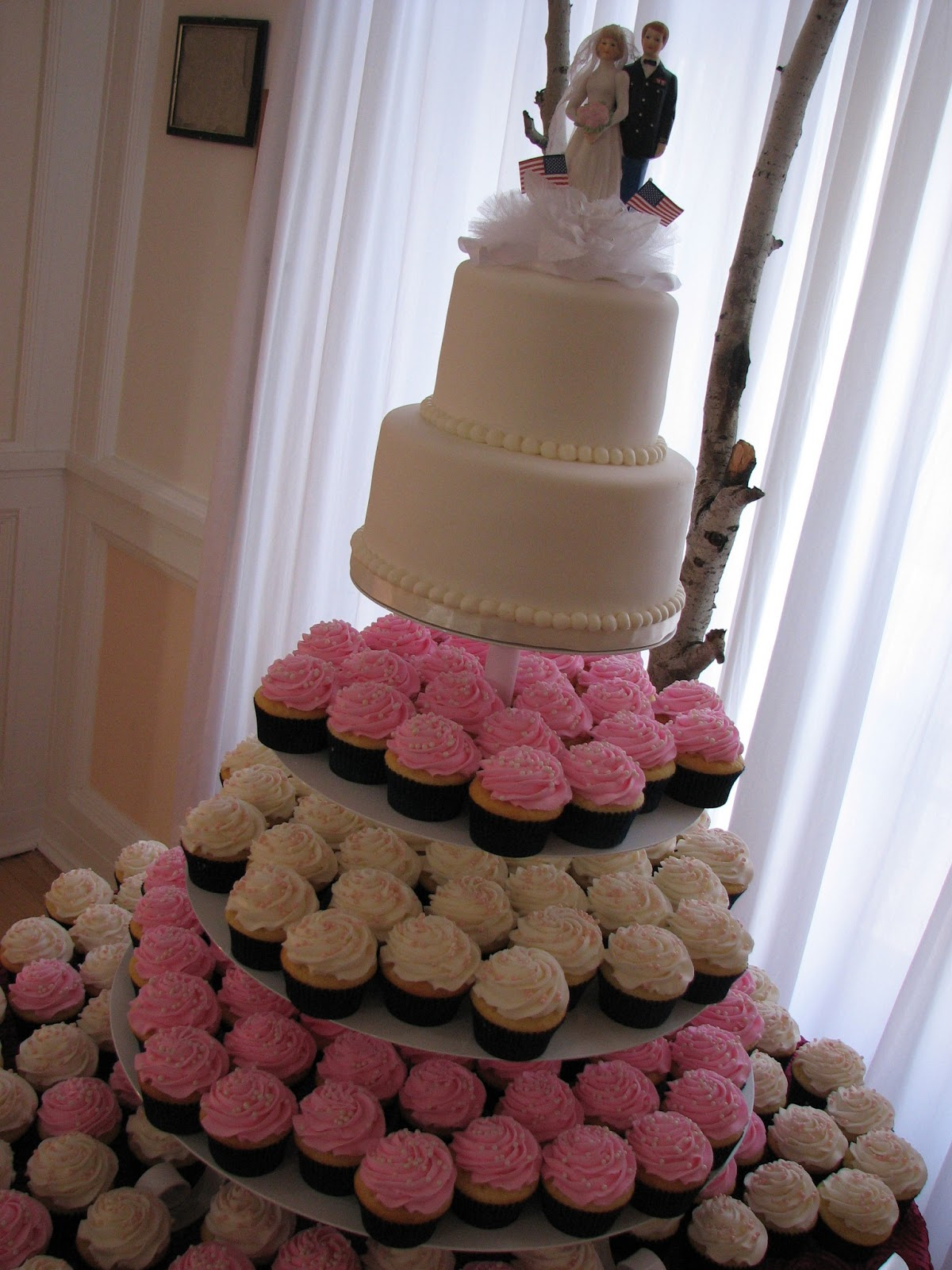 Featured Wedding: Rebecca + Keven's Sunset Malibu Wedding ... |Pink And Blue Wedding Cakes