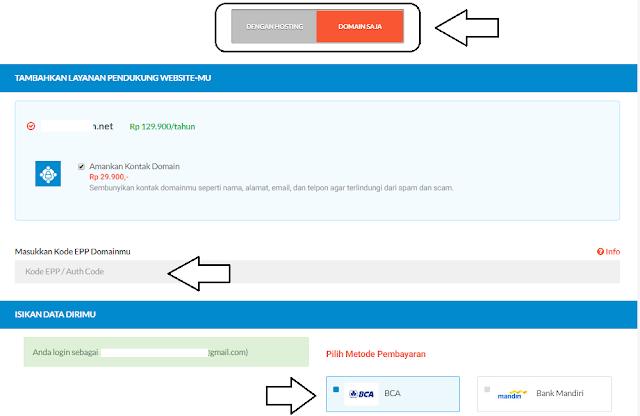 Cara Transfer domain dari exabytes ke idwebhost