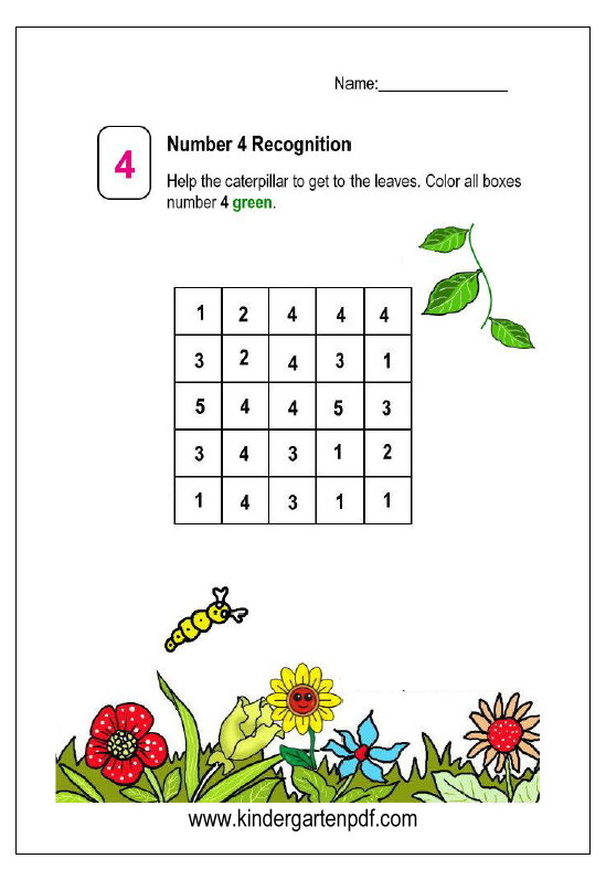 Free Nursery Worksheets: Mei 2017