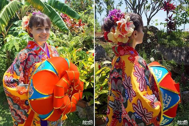 外国人ブロガー 沖縄 宮古島 琉装体験