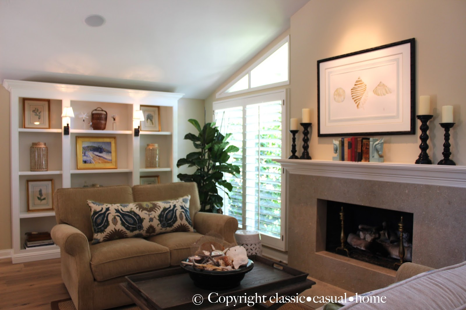 classic  casual  home: Beach Living Room Dcor Before ...