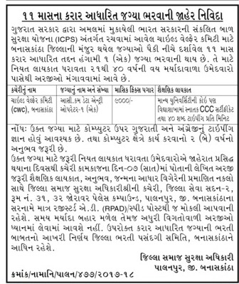 icps-banaskantha-recruitment-2018
