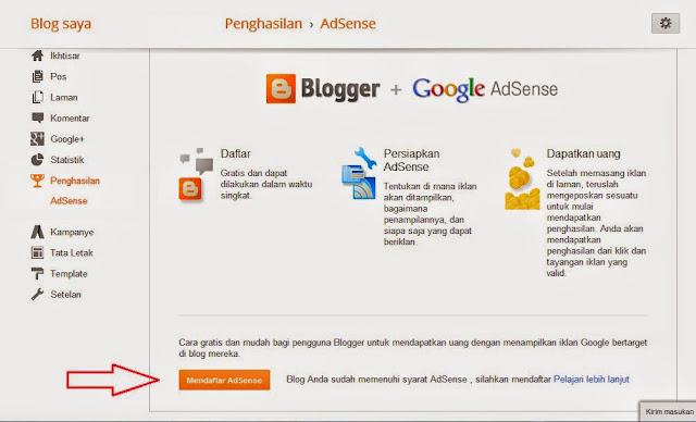 situs blog anda diterima goggle adsense