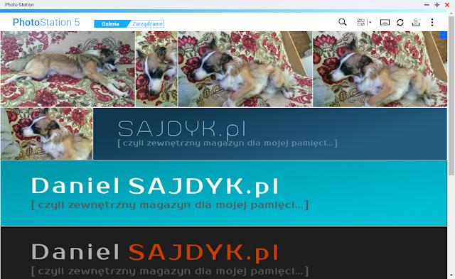 Mozaika zdjęć prezentowana po uruchomieniu PhotoStation 5