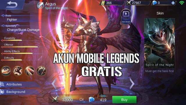 Kumpulan akun mobile legends