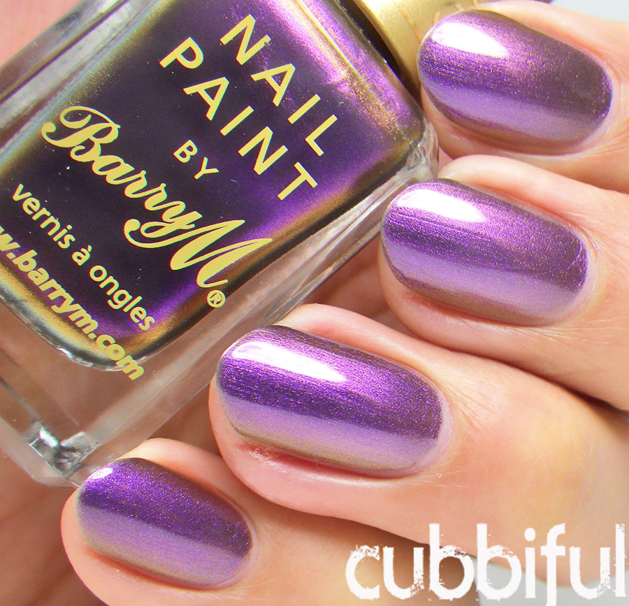 Barry M Persian Aquarium Nail Effects Swatch and Review