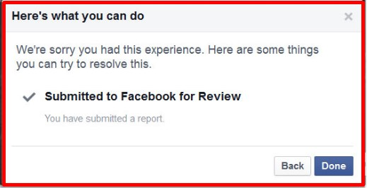 how to report a facebook page for harassment