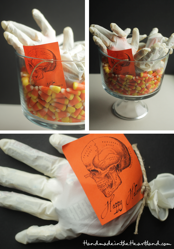 Candy filled gloves with free printable