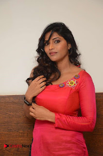 Actress Sri Pictures in Red Long Dress at Pelli Choopulu Audio Launch  0002