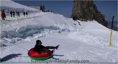 Big family trip to Mt. Titlis Glacier Park, Engelberg, Switzerland