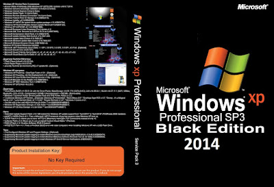 Windows XP Professional SP3 x86-Bits Black Edition 2014 DVD Capa