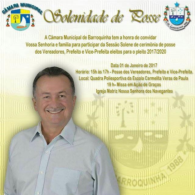 Eleitos da cidade Barroquinha serão empossados nesse domingo (1)