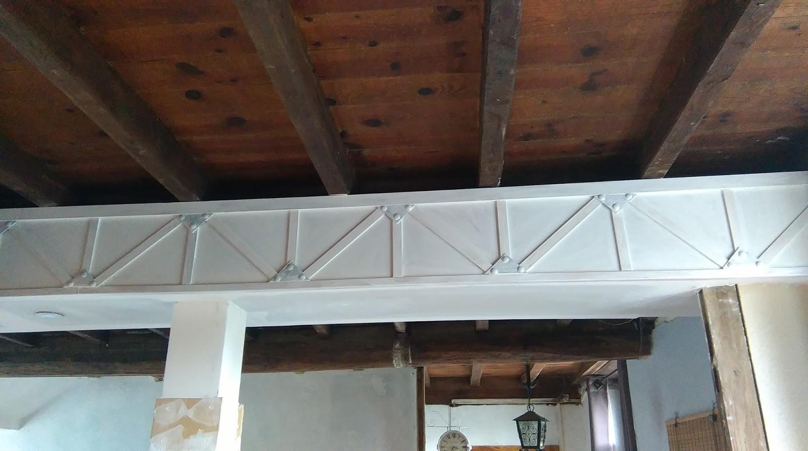 poutre trompe l oeil effet metal industriel With commentaire peindre des poutres en blanc 8 poutre trompe l oeil effet metal industriel