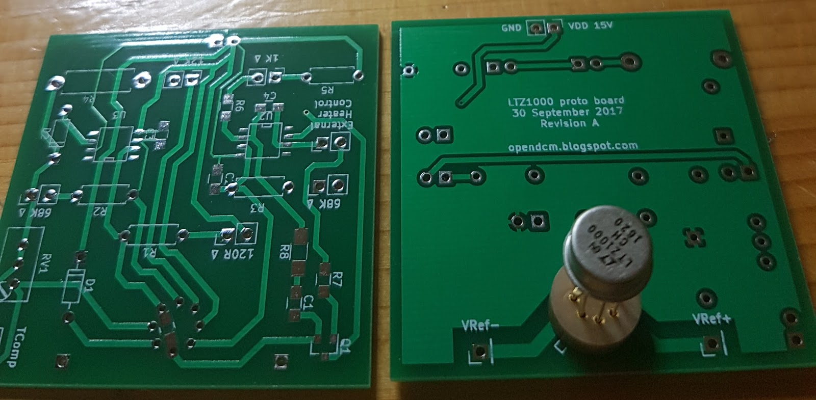Open source high accuracy DC Multimeter : LTZ1000 based proto board ...