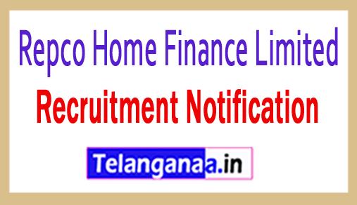 Repco Home Finance Limited RHFL Recruitment