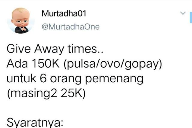 Berikan Pulsa Gratis, Akun  Ini Minta Netizen Ramaikan Hastag Jokowi Biar Masuk Trending